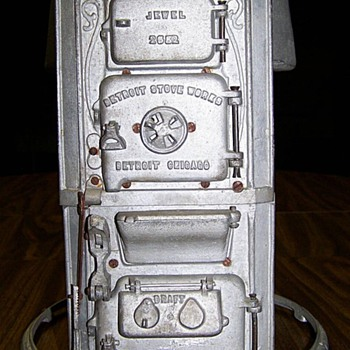 Salesman sample of a gravity hot air furnace.
