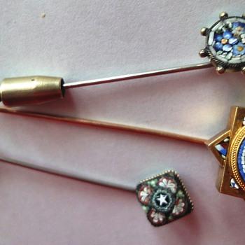 3 Micro Mosaic Stick pins