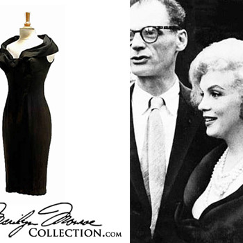 Marilyn Monroe&#039;s Personal Black Silk Cocktail Dress - Womens Clothing