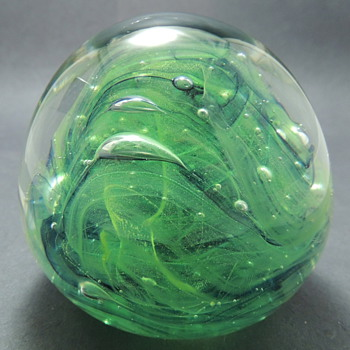 Hand Made Glass Paperweight: Kerry Glass Ireland