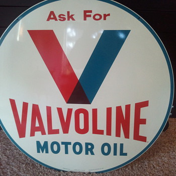 Valvoline double sided nos sign