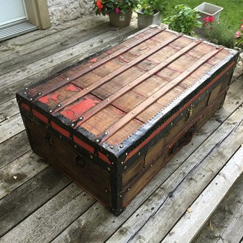 French Antique Trunk - Furniture
