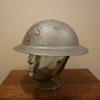 British Royal Air Force WWII Crash Rescue steel helmet. - Military and Wartime