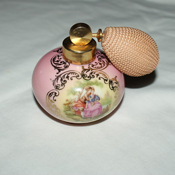 Perfume Bottle:  Royal KM Porzellan Bavaria  - Bottles