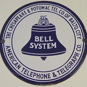 Chesapeake and Potomac Tel. Co. of Balto. City Hubcap - Telephones