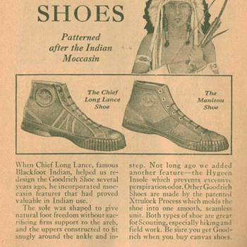1932 Goodrich Sport Shoes Advertisement