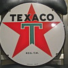 Dated 46&#039; Porcelain Texaco sign