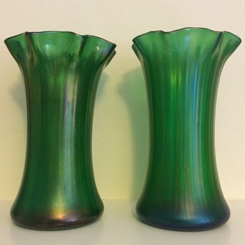 Green iridescent pair