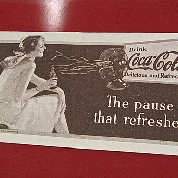1931 The pause that refreshes Coca Cola blotter