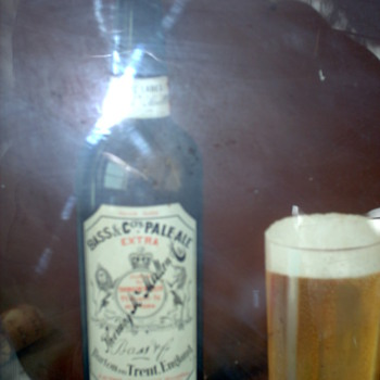 Illustration Bottle Base Ale 110 -140 years old - Breweriana