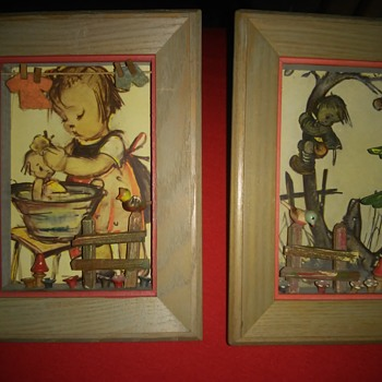 Unique vintage wooden shadow boxes - Visual Art