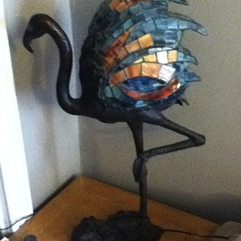 My beautiful flamingo lamp