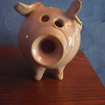 Pottery Piggy Bank - Adorable!  - Art Pottery