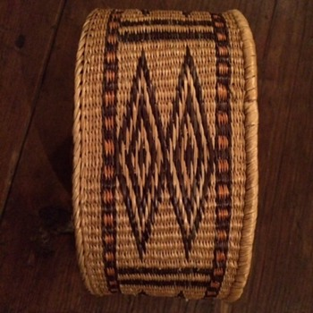 Native American Round Decorative Patterned Basket? - Furniture