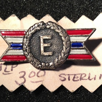 Sterling Excellence in Production pin - Military and Wartime