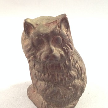 Cast Iron Cat Figurine