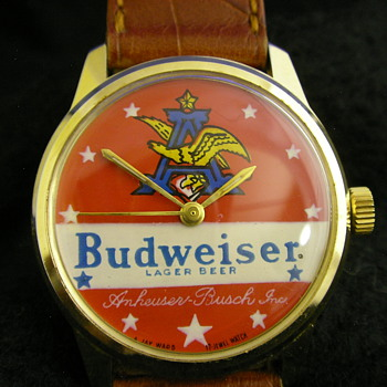 1973 Jay Ward Productions 'Budweiser' Wristwatch - Wristwatches
