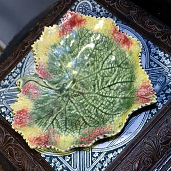 Portuguese Majolica Candy Dish  - Art Pottery