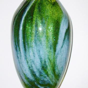 Rare Loetz Aventurin Mit Blau Vase c.1904