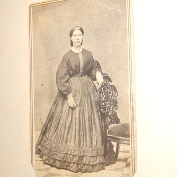 CDV of a woman with great tax stamp cancellation - Photographs