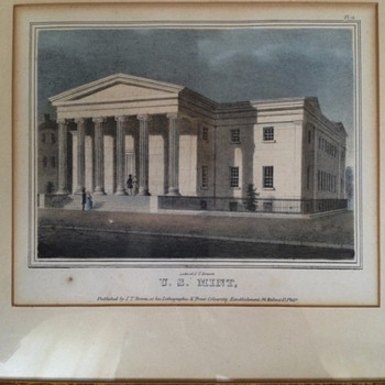 U.S. Mint Philadelphia 1840 1st edition litho. By J.T. Bowen