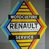 porcelain sign renault tractor