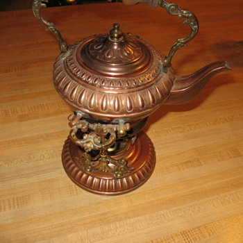 Copper/brass tea pot