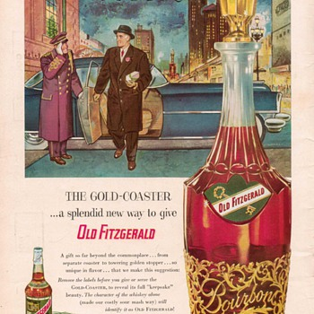 1954 Old Fitzgerald Whiskey Advertisement - Advertising