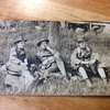 3 SOLDIERS TAKE A BREAK, PEEKSKILL,NY  1908