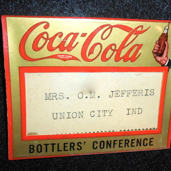 1930 Coca-Cola Bottlers Convention Badge - Coca-Cola
