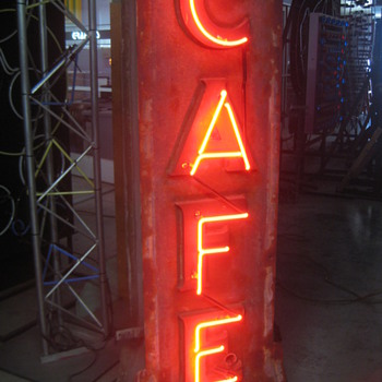 Vintage 1920's Neon CAFE sign 2-sided / Gorgeous Antique Showpiece - Signs