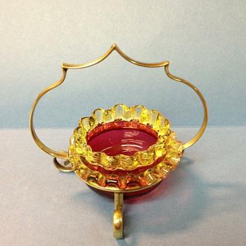 a retake of tiny photo - cranberry salt - Art Glass