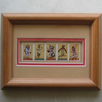 1996 Indian Dancers stamps
