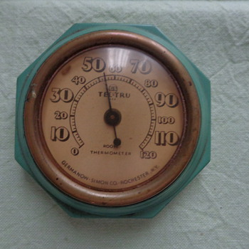 Tel-Tru Room Thermometer Germanow-Simon CO., Rochester, NY