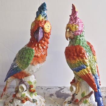 parrots  - Art Pottery