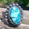 Egyptian Scarab Poison Ring Flea Market Find $3