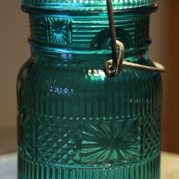 Old Green Canning Jar