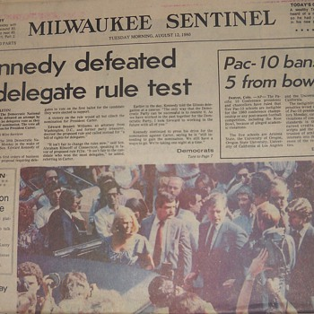Kennedy &#039;80 Campaign newspaper