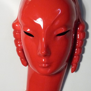 Villeroy&Boch Luxembourg mask 1935 by Edouard Hermanutz - Art Deco