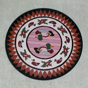 Ceramic Duck plate - Art Pottery