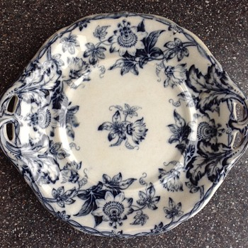 Minton. BB Newstone blue & white transfer ware plate. 1830-1860