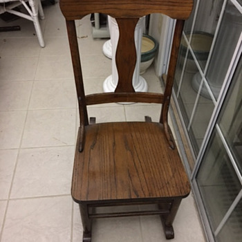 Texas Antique Sewing Rocker