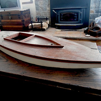 Hand Crafted Sailboat 1930's - Toys