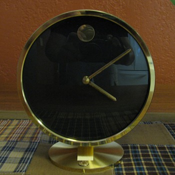Vintage Howard Miller Table Top Museum Clock - Mid Century Modern