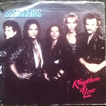 """Scorpions - Rhymthm of Love"" 45 Record"