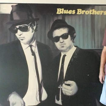 "Blues Brothers ""Briefcase Full of Blues""  Record Store Sign - Advertising"
