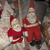 Two Vintage Santa Dolls