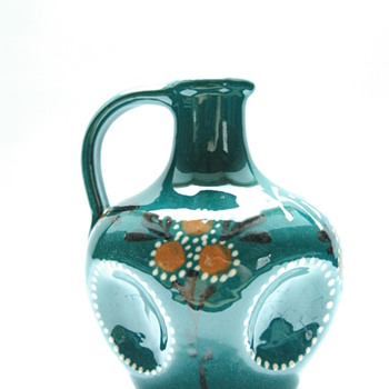 "art nouveau miniature liquor jug ""kirch"", by LEON ELCHINGER circa 1910"