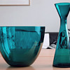 Blue-green bowl and vase -  Scandinavian style 1960s?
