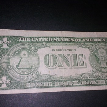 old one dollar bill